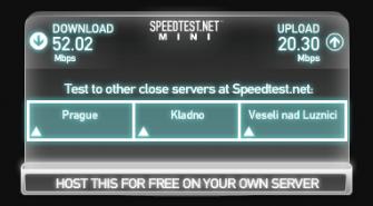 Test LTE s externí anténou